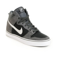 Nike SB Dunk High LR Anthracite & Metallic Silver Skate Shoe at Zumiez : PDP