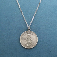 The little Prince, Coin, Vintage, Silver, Necklace, Le petit prince, Necklace, Birthday, Best friends, Sister, Gift, Jewelry