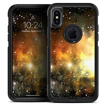 Glowing Gold & Black Nebula - Skin Kit for the iPhone OtterBox Cases