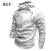 New Arrival Cotton Men Solid Long Sleeve Hoodie Sweatshirt Men Tops Jacket Coat Outwear Plus Size Slim Pullover Masculino