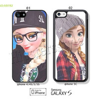 Disney frozen Phone Cases, iPhone 5/5S Case, iPhone 5C Case, iPhone 4/4S Case, Galaxy S3 S4 S5 Note 2 Note 3 Case for iPhone-B0192