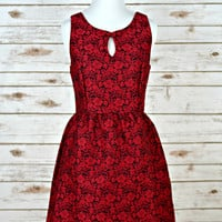 Holiday Wishes Dress - Red/Black