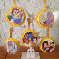 Vintage Disney Felt Decorations - Beauty and The Beast Set