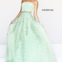 Sherri Hill 11123 Lace Ball Gown Prom Dress