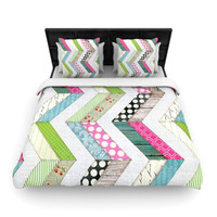 """Heidi Jennings """"Fabric Much?"""" Colored Cloth Lightweight Duvet Cover"""