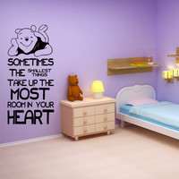 Winnie The Pooh Quote Wall Decal Sticker Birthday Baby Shower Nursery or Party