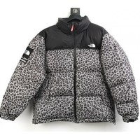 QIYIF UA REPLICA SUPREME x NORTH FACE NUPTSE LEOPARD GREEN/yellow/silver COAT