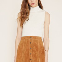Contemporary Suede Skater Skirt | Forever 21 - 2000170594