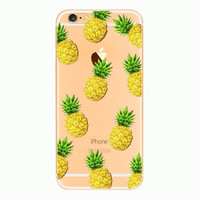 New Cute Pineapple Protective Case For Iphone 7 5s se 5 6 6s Plus+ free gift box