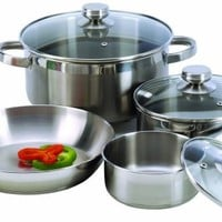 Excelsteel 7 Piece 18/10 Stainless Steel Cookware With Encapsulated Base