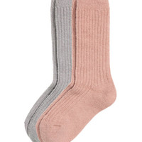 2-pack socks in a mohair blend - from H&M