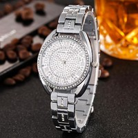 MK Michael Kor New fashion more diamond quartz watchband women watch wristwatch Silver