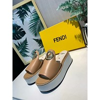 FENDI  Popular Summer Women's Flats Men Slipper  Sandals Shoes