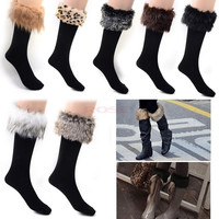 Japan Style Winter Snow Socks With Synthetic Fur Boot Socks 19333 One Size Underwear = 1651619268