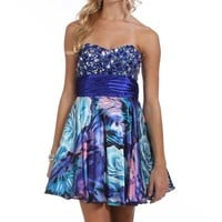 Pre-Order: Ivette-Blue Homecoming Dress