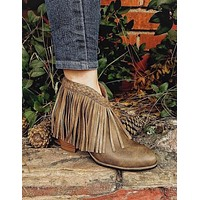 Show Stopper Fringe Booties