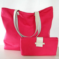 Promo Listing - Pink Canvas Tote Bag - beach, shopping, weekends