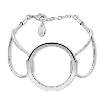 Silver-Tone Open Circle Link BraceletBe the first to write a reviewSKU# b279-01