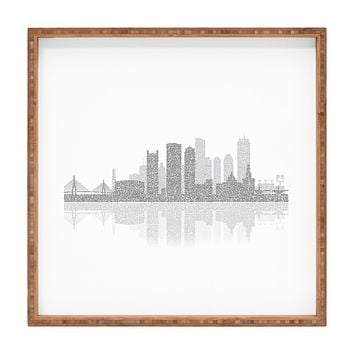 Restudio Designs Boston Skyline Reflection Square Tray