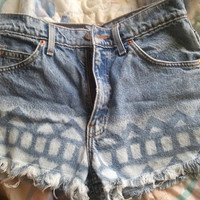 Levi  High Waisted  Tribal Patterned Shorts