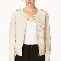 Chic Quilted Faux Leather Jacket