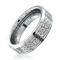 Bling Jewelry Unisex Celtic Knot Tungsten Infinity Knot Ring 7mm