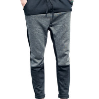Color Block Paneled Drawstring Jogging Pants