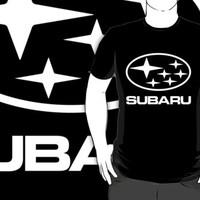 subaru logo black t-shirt