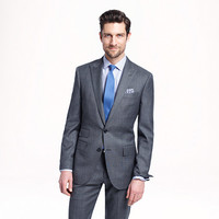 Ludlow peak-lapel suit jacket with double vent in Italian worsted wool - wool suiting - Men - J.Crew