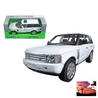 2003 Land Rover Range Rover White 1/24 Diecast Model Car by Welly