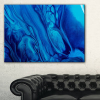 Dark Blue Abstract Acrylic Paint Mix - Abstract Art on Canvas | Overstock.com Shopping - The Best Deals on Gallery Wrapped Canvas