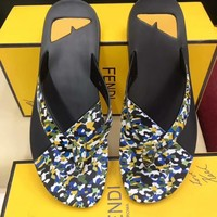 shosouvenir :FENDI: Casual Fashion Women Man Sandal Slipper Shoes