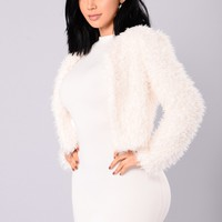 Mary Cropped Jacket - Ivory