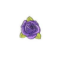 Purple Rose Pin