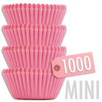 Mini Solid Pink Baking Cups 1000