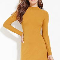 Ribbed High-Neck Dress
