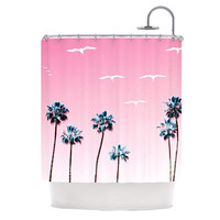 "Bree Madden ""Pink Cali"" Shower Curtain, 69"" x 70"" - Outlet Item"