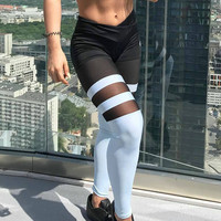 Leggings Hot Sale Patchwork Permeable Yoga Pants Sportswear [11716827919]