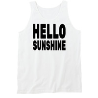 Hello Sunshine Tanktop by 99Crowncat - Funny Awesome Print Tank Tops - 250+ Cool Unisex Tanks