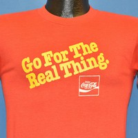 70s Coca Cola Real Thing Rocky Point Park Warwick RI t-shirt Small