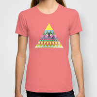 Pyramid in Space. T-shirt by Nick Nelson