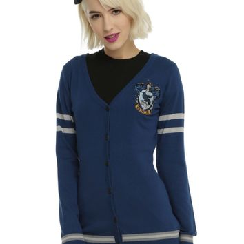 Licensed cool Harry Potter Ravenclaw Cardigan Sweater House Crest button down JRS XS-2X NWT