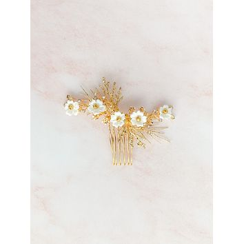 Gold branch headpiece - style 7000 - ready to ship