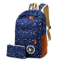 Canvas Women backpack Big Capacity School Bags For Teenagers Printing Backpacks For Girls Mochila Escolar APB02