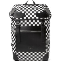 Givenchy - Rider Leather and Checkerboard Shell Backpack
