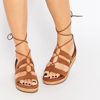 Call it Spring | Call It Spring Fromiri Black Lace Up Sandals at ASOS