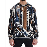 Dolce & Gabbana Multicolor Jazz Sequined Runway Pullover Sweater