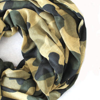 camouflage mesh scarf,infinity scarf, scarf, scarves, long scarf, loop scarf, gift