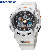2016 New PASNEW 100m Waterproof Sport Watch Diving Swimming Men Sports Wristwatch Relogio Masculino Clock Men Sports Wrist watch