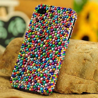 iPhone 4 /5 case cover  bowtie Swarovski crystals Rhinestone Handmade jewel iPhone case Studded Bling decorate iPhone 4s case